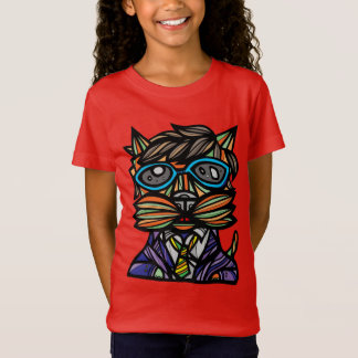 """Kool Kat"" Girls' Fine Jersey T-Shirt"