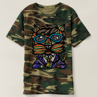 """Kool Kat"" Men's Camouflage T-Shirt"