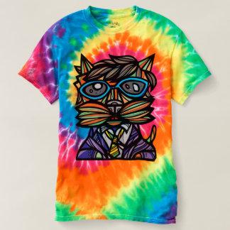"""Kool Kat"" Men's Spiral Tie-Dye T-Shirt"