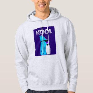 KOOL Penguin™ Brand Men's Ash White Hoodie