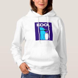 KOOL Penguin™ Brand Women's White Hoodie