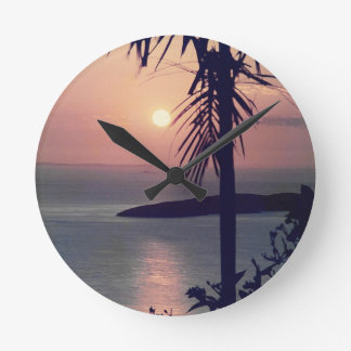 Koolan Sunrise Round Clock