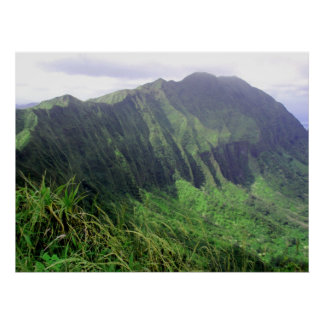 Ko'olau Mountain Ridge Poster