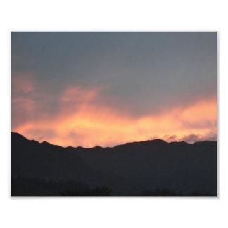 Koolau Mountain Sunset Fire Hawaii Photo Art Print