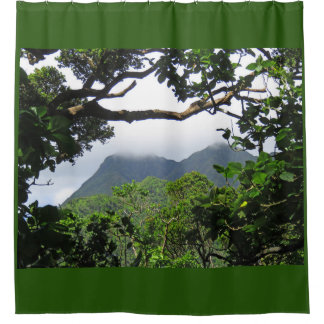 Koolau Mountains Shower Curtain