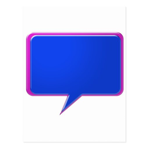 KOOLshades BLUE Talk Bubble - Bulk Discount pricin Postcard