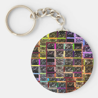 KOOLshades CHECKEReD Celebration Sparkle Basic Round Button Key Ring