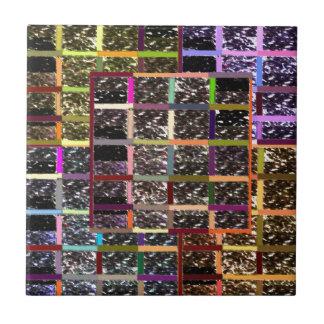 KOOLshades CHECKEReD Celebration Sparkle Small Square Tile