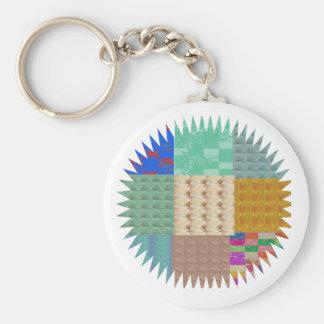 KOOLshades : Fabric Patchwork SPARKLE Key Chain