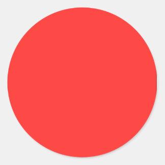 KOOLshades Plain  : Buy BLANK or ADD TEXT IMAGE Round Sticker
