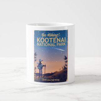 Kootenai National park Hiking travel poster Giant Coffee Mug