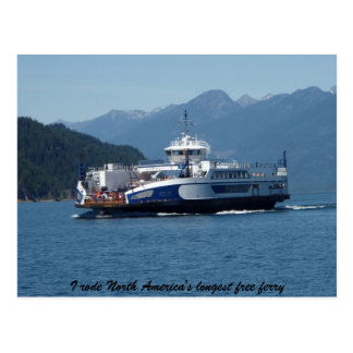 Kootenay Lake Ferry, British Columbia Postcard