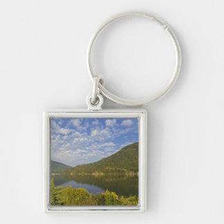 Kootenay Lake in Nelson British Columbia Silver-Colored Square Key Ring