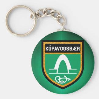 Kópavogsbær Flag Key Ring