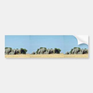 Kopjes on the Serengeti Bumper Sticker