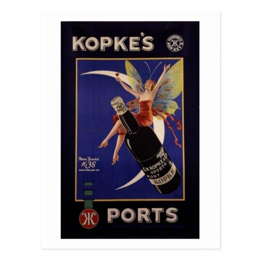 Kopke's Ports Vintage Ad Postcard