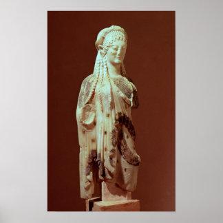 Kore figure, c.510 BC Poster