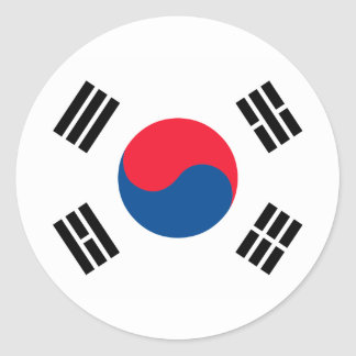 Korea Flag Classic Round Sticker