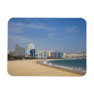 Korea, Gyeongsangnam-do, Busan, Haeundae beach Magnet
