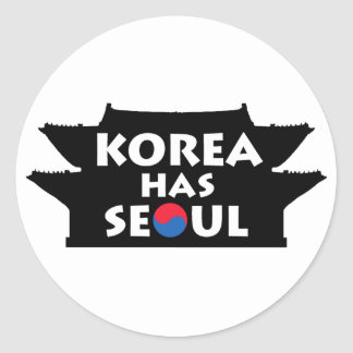 Korea Has Seoul Classic Round Sticker