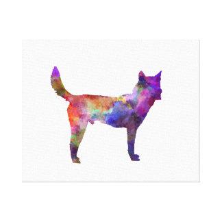 Korea Jindo Dog in watercolor Canvas Print