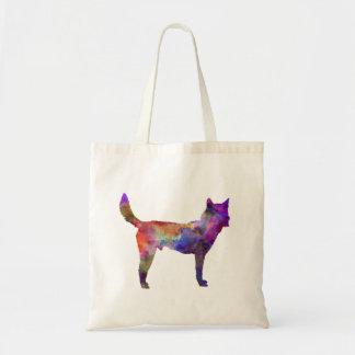 Korea Jindo Dog in watercolor Tote Bag