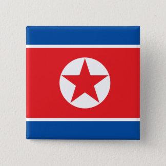 korea north 15 cm square badge