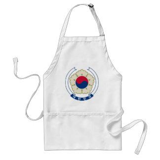korea south emblem adult apron