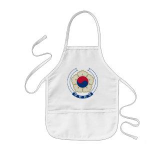korea south emblem kids apron