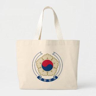 korea south emblem large tote bag
