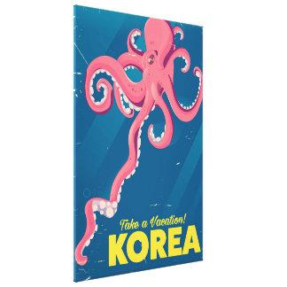 Korea Vacation poster Canvas Print