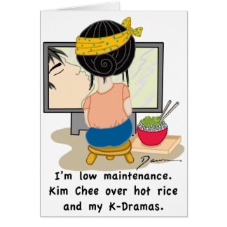 Korean Drama Queen™ Branded Card-Low Maintenance Card