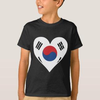 Korean Flag Heart T-Shirt