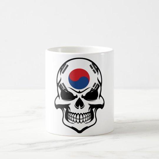 Korean Flag Skull Coffee Mug