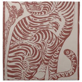 Korean Folk Art Tiger Napkin