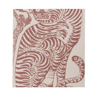 Korean Folk Art Tiger Notepad