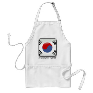 Korean glossy flag standard apron