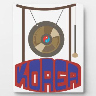 Korean Gong Plaque