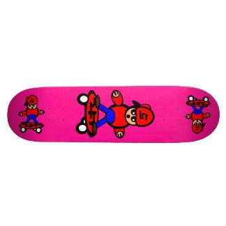 Korean Kid Skateboard Fluorescent Pink