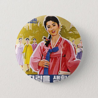 Korean Ladies Wearing Hanbok 6 Cm Round Badge