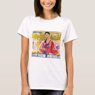 Korean Ladies Wearing Hanbok T-Shirt