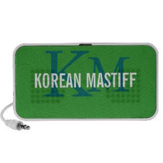 Korean Mastiff Monogram iPhone Speakers