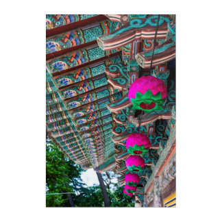 Korean Temple Roof Detail Acrylic Print