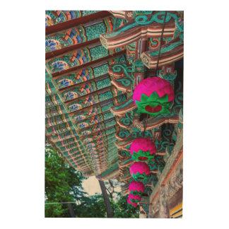 Korean Temple Roof Detail Wood Print