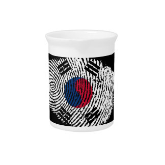 Korean touch fingerprint flag beverage pitcher