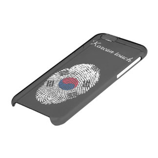 Korean touch fingerprint flag clear iPhone 6/6S case