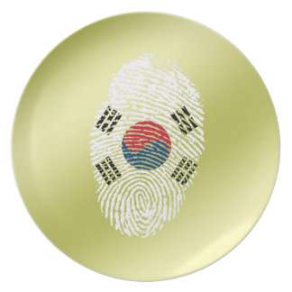 Korean touch fingerprint flag dinner plates
