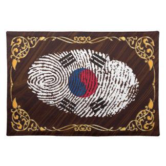 Korean touch fingerprint flag placemats