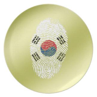 Korean touch fingerprint flag plate