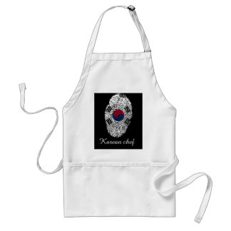 Korean touch fingerprint flag standard apron